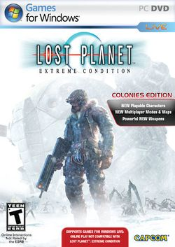 Box artwork for Lost Planet: Extreme Condition - Colonies Edition.