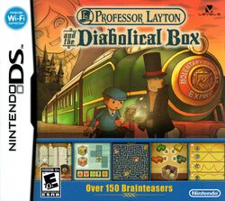 Box artwork for Professor Layton and the Diabolical Box.