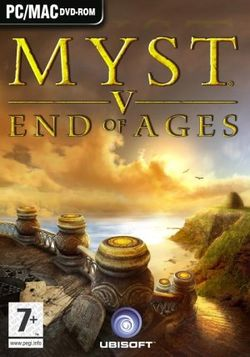 Box artwork for Myst V: End of Ages.