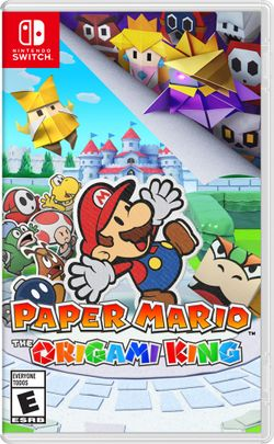 Box artwork for Paper Mario: The Origami King.