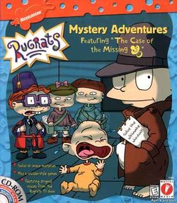 Box artwork for Rugrats Mystery Adventures.