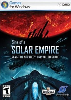 Box artwork for Sins of a Solar Empire.