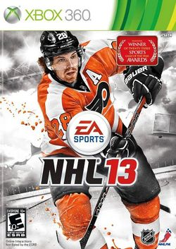 Box artwork for NHL 13.