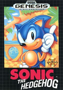 Box artwork for Sonic the Hedgehog.