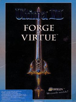 Box artwork for Ultima VII: Forge of Virtue.