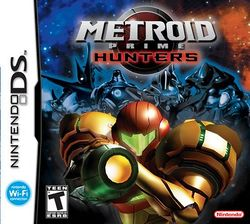 Box artwork for Metroid Prime Hunters.