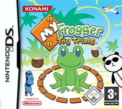 Box artwork for My Frogger Toy Trials.