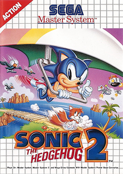 Box artwork for Sonic the Hedgehog 2 (8-bit).