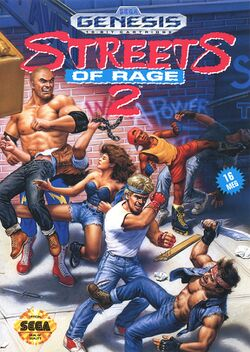 Box artwork for Streets of Rage 2.