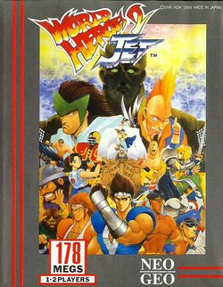 Box artwork for World Heroes 2 Jet.