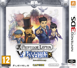 Box artwork for Professor Layton vs. Phoenix Wright: Ace Attorney.