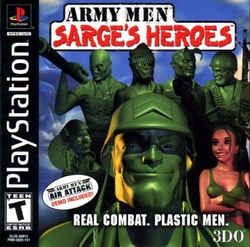 Box artwork for Army Men: Sarge's Heroes.