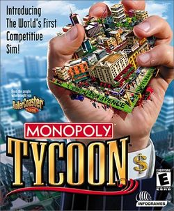 Box artwork for Monopoly Tycoon.