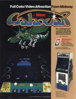 Box artwork for Galaxian.