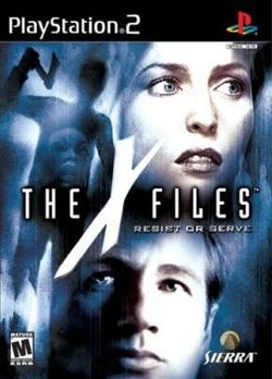 Box artwork for The X-Files: Resist or Serve.