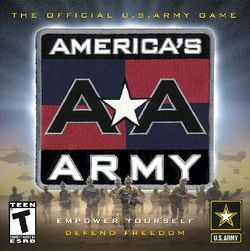 Box artwork for America's Army.
