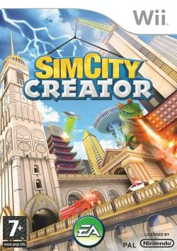 Box artwork for SimCity Creator.