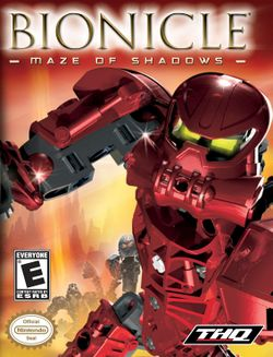 Box artwork for Bionicle: Maze of Shadows.