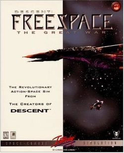 Box artwork for Descent: FreeSpace - The Great War.