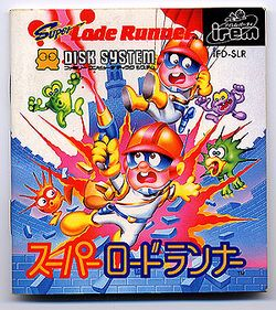 Box artwork for Super Lode Runner.
