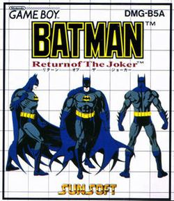 Box artwork for Batman: Return of the Joker (Game Boy).