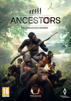 Box artwork for Ancestors: The Humankind Odyssey.