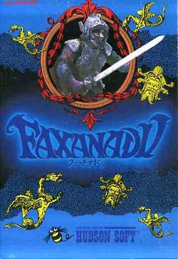 Box artwork for Faxanadu.