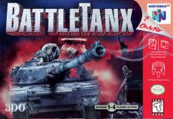 Box artwork for BattleTanx.