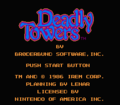 Deadly Towers NES title.png