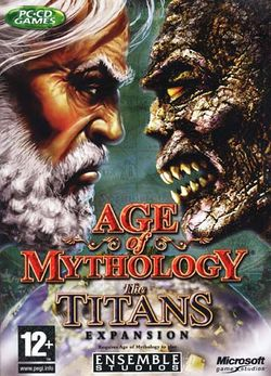 Box artwork for Age of Mythology: The Titans.