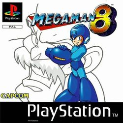 Box artwork for Mega Man 8.