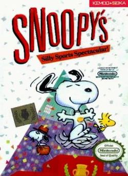 Box artwork for Snoopy's Silly Sports Spectacular!.