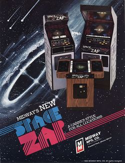 Box artwork for Space Zap.