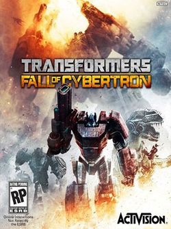 Box artwork for Transformers: Fall of Cybertron.