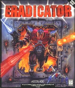 Box artwork for Eradicator.