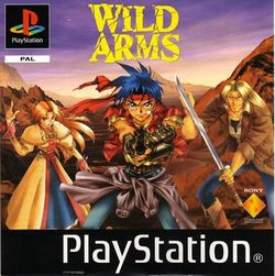 Box artwork for Wild Arms.