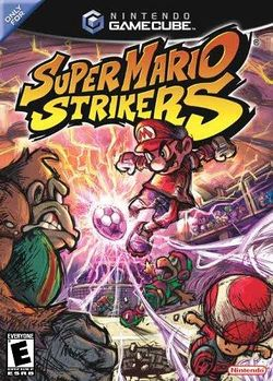 Box artwork for Super Mario Strikers.