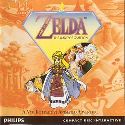 Box artwork for Zelda: The Wand of Gamelon.