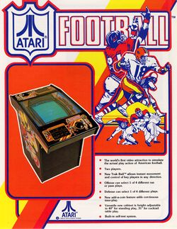 Box artwork for Atari Football.