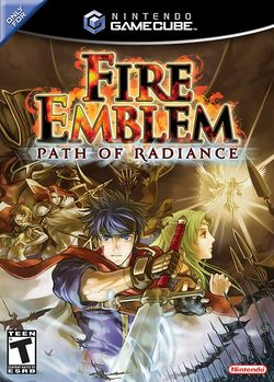 Box artwork for Fire Emblem: Path of Radiance.