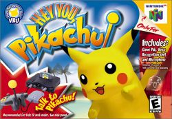 Box artwork for Hey You, Pikachu!.