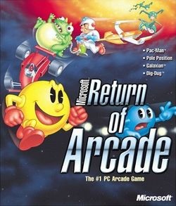 Box artwork for Microsoft Return of Arcade.