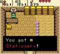 Zelda Ages Trading Stationary.png