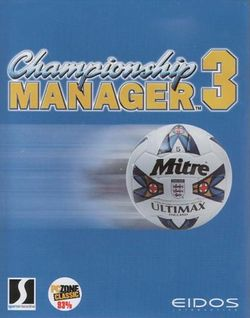 Box artwork for Championship Manager 3.