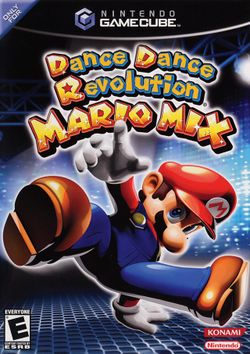 Box artwork for Dance Dance Revolution Mario Mix.