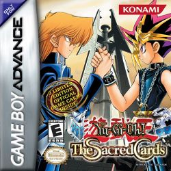 Box artwork for Yu-Gi-Oh! The Sacred Cards.