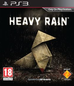 Box artwork for Heavy Rain.