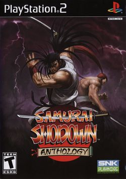 Box artwork for Samurai Shodown Anthology.