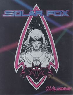 Box artwork for Solar Fox.