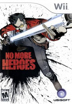 Box artwork for No More Heroes.